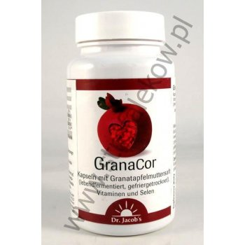 GranaCor koncentrat z granatu selen, kwas foliowy, wit. B12, wit. D, wit. E