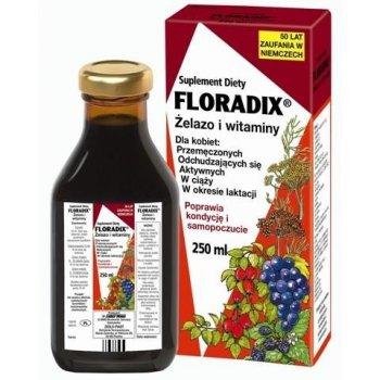 Floradix Żelazo i witaminy odżywczy tonik z wyciągami z ziół