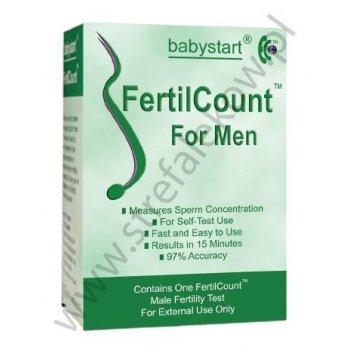 Fertilcount 1 test płodności dla mężczyzn mierzy ilość plemników w nasieniu