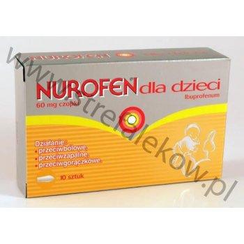 Nurofen Czopki 60 mg przeciwbólowe, przeciwgorączkowe
