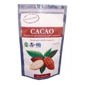Cacao Organiczne sproszkowane ziarna kakaowca na cholesterol, ciśnienie krwi i dobre samopoczucie