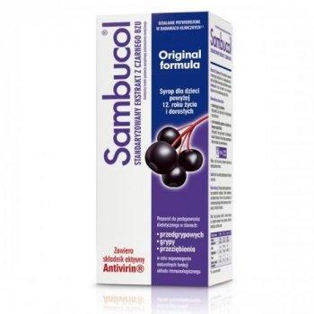 Sambucol Original Formula ekstrakt z owoców czarnego bzu na grypę i przeziębienie