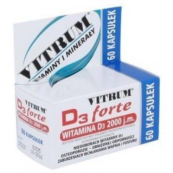 VITRUM D3 Forte 60 kapsułek 2000 j.m. cholekalcyferolu