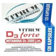 VITRUM D3 Forte 120 kapsułek 2000 j.m. cholekalcyferolu
