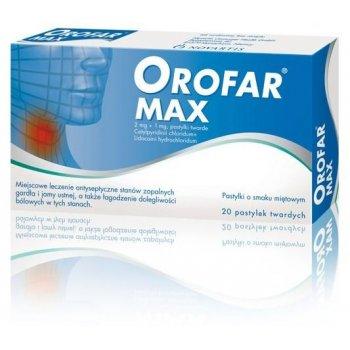 Orofar MAX pastylki do ssania na ból gardła