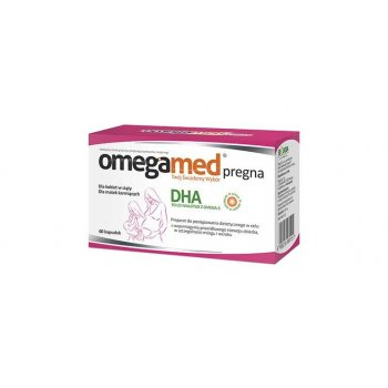 Omegamed PREGNA roślinne DHA 60 kapsułek dla kobiet w ciąży i karmiących