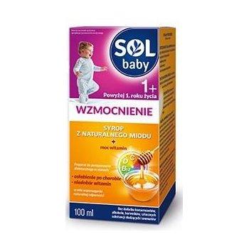 SOLbaby WZMOCNIENIE od 1 roku życia syrop z naturalnego miodu dla dzieci wzmacnia i uzupełnia witaminy po chorobie