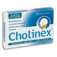 Cholinex bez cukru pastylki na ból gardła