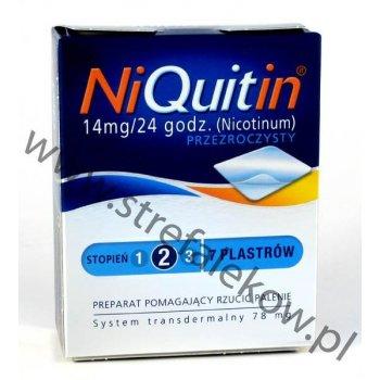 Niquitin Plastry Drugi Stopień Przezroczyste