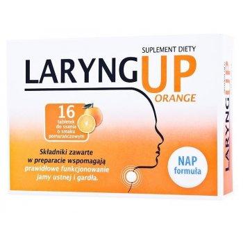Laryng Up Orange wspomaga prawidłową pracę jamy ustnej i gardła