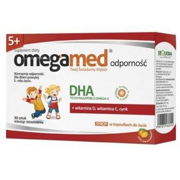 Omegamed Odporność syrop w kapsułkach do żucia wzmacniający odporność z naturalnym DHA dla dzieci od 5 roku życia