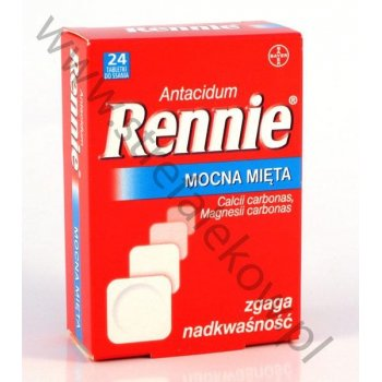 Rennie Mocna Mięta 24 tabletki
