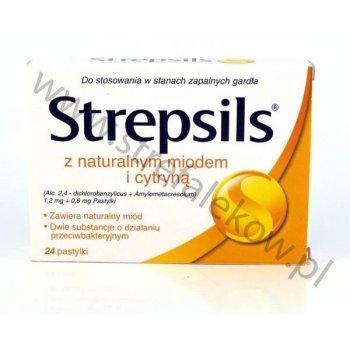 Strepsils z naturalnym miodem i cytryną 24 pastylki