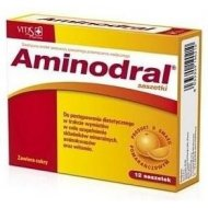 Aminodral uzupełnia składniki mineralne, aminokwasy i witaminy w trakcie wymiotów