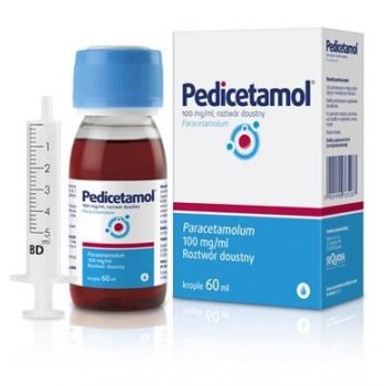 Pedicetamol Paracetamol w kroplach dla dzieci