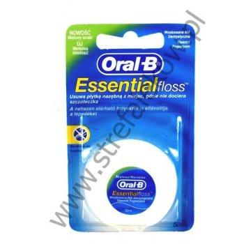 Oral-B nić Essential Floss woskowana usuwa płytkę nazębną