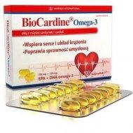 BioCardine omega-3 stężenie 62% EPA i DHA w postaci estrów etylowych