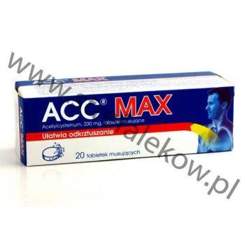 ACC MAX ułatwia odkrztuszanie tabletki musujące