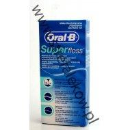 Oral-B SuperFloss nici dentystyczne do czyszczenia aparatów ortodontycznych, mostów i większych przestrzeni międzyzębowych