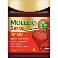 MOLLERS Serce omega-3 z ryb i olej lniany