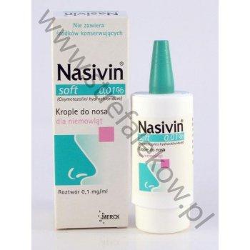 Nasivin SOFT 0,01% aerozol do nosa dla niemowląt