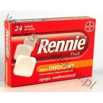 Rennie Smak Owocowy 24 tabletki