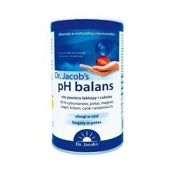 pH balans proszek głęboko odkwasza i remineralizuje organizm Dr. Jacob's