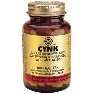Solgar Cynk chelat Aminokwasowy 100 tabletek
