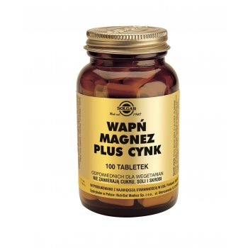 Solgar Wapń Magnez plus Cynk