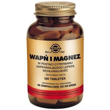 Solgar Wapń i Magnez 100 tabletek