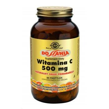 Solgar Witamina C 500 mg do ssania pomarańczowa