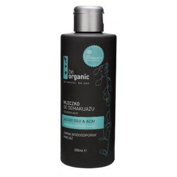 Mleczko do demakijażu Be Organic zmywa wodoodporny makijaż