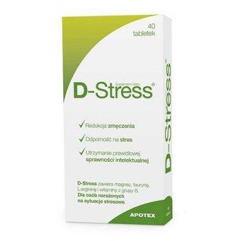 D-Stress na zmęczenie, stres i prawidłową sprawność intelektualną