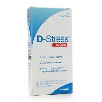 D-Stress booster na zmęczenie, stres i prawidłową sprawność intelektualną saszetki