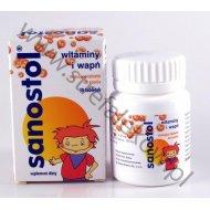 Sanostol musujące tabletki do ssania 30 tabletek