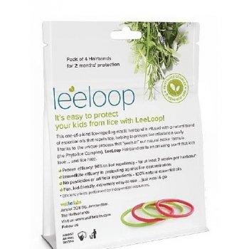 LeeLoop gumka do włosów przeciw wszawicy tył opakowania