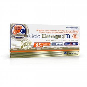 Gold Omega-3 z witaminami D3 i K2 Olimp Labs