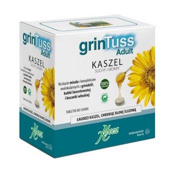 grinTuss Tabletki Do Ssania łagodzenie kaszlu i ochrona gardła