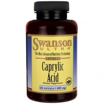 Kwas Kaprylowy 600 mg Swanson Poprzednie Opakowanie