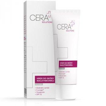 CERA+ Solutions Krem do skóry naczynkowej na dzień chroni i nawilża skórę SPF15
