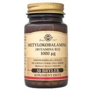 Metylokobalamina 100 ug Witamina B12 do ssania Solgar