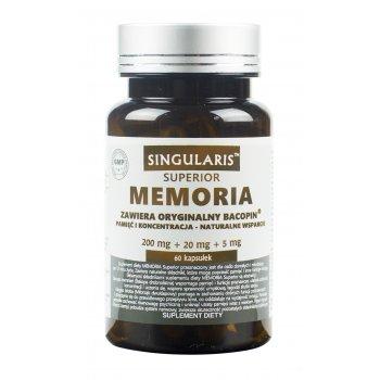 Singularis Memoria Pamięć Koncentracja Bacopa Ginkgo