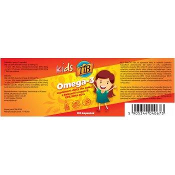 Kids Omega-3 DHA i EPA Dla Dzieci Etykieta
