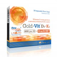 Olimp Gold-Vit D3 + K2 w oleju lnianym
