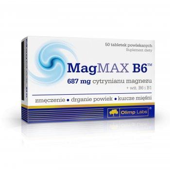 Olimp MagMAX B6 Cytrynian Magnezu z vit. B6 i Tiaminą