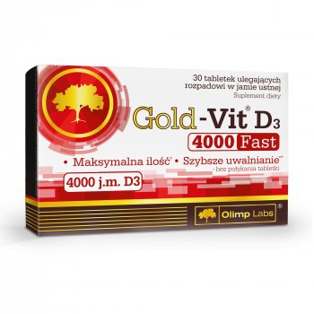 Olimp Gold-Vit D3 4000 Fast 30 tabletek ODT