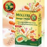 MOLLERS Omega-3 rybki dla dzieci żelki z DHA EPA i witaminą D