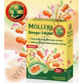 Mollers Omega-3 Rybki żelki z DHA i EPA