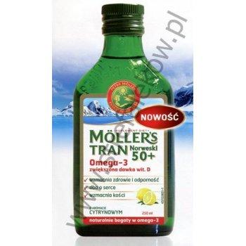 MOLLERS Tran Norweski 50+ o smaku cytrynowym większa dawka wit. D3