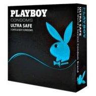 Prezerwatywy Playboy Ultra Safe 3 szt. grubsze ścianki, nawilżane